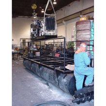 installing Diesel hydraulic power pack assembly.