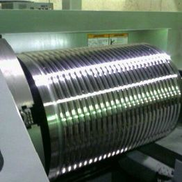 CNC machining cable groove in 18 inch winch drum.